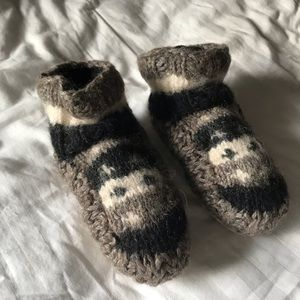 Authentic Canadian knit wool slippers
